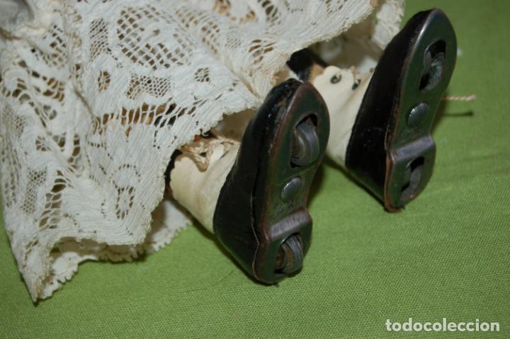 Muñecas Porcelana: dep jumeau automata andadora a cuerda funciona - Foto 5 - 133000310