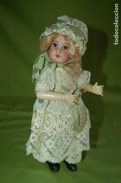 Muñecas Porcelana: dep jumeau automata andadora a cuerda funciona - Foto 20 - 133000310
