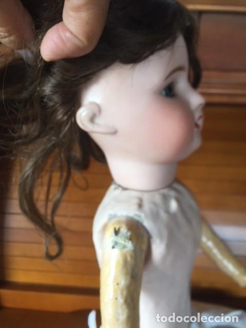 Muñecas Porcelana: Muñeca francesa cabeza porcelana cuerpo cartón piedra cabello natural,S.F.B.J. 60 PARIS 2 - Foto 4 - 133749594