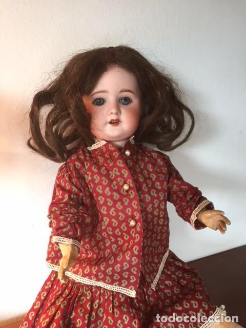 Muñecas Porcelana: Muñeca francesa cabeza porcelana cuerpo cartón piedra cabello natural,S.F.B.J. 60 PARIS 2 - Foto 5 - 133749594