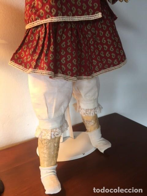 Muñecas Porcelana: Muñeca francesa cabeza porcelana cuerpo cartón piedra cabello natural,S.F.B.J. 60 PARIS 2 - Foto 9 - 133749594