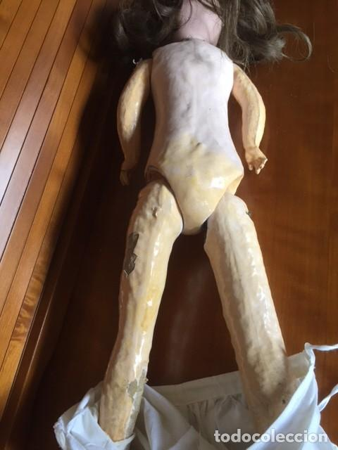 Muñecas Porcelana: Muñeca francesa cabeza porcelana cuerpo cartón piedra cabello natural,S.F.B.J. 60 PARIS 2 - Foto 13 - 133749594