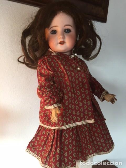 Muñecas Porcelana: Muñeca francesa cabeza porcelana cuerpo cartón piedra cabello natural,S.F.B.J. 60 PARIS 2 - Foto 14 - 133749594
