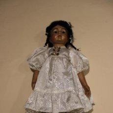 Muñecas Porcelana: REPRODUCCION EN PORCELANA DE BRU MULATA CON CUERPO ARTICULADO. Lote 133759610