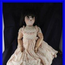 Muñecas Porcelana: MUÑECA ANTIGUA CARA PORCELANA CUERPO CARTON PIEDRA. Lote 134969406