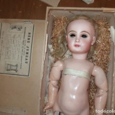 Porcelain Dolls - MUÑECA JUMEAU,PORCELANA,FRANCE,CLAVIJA EN LA NUCA Y PARLANTE,CAJA ORIGINAL,FINALES DEL S.XIX - 138803590