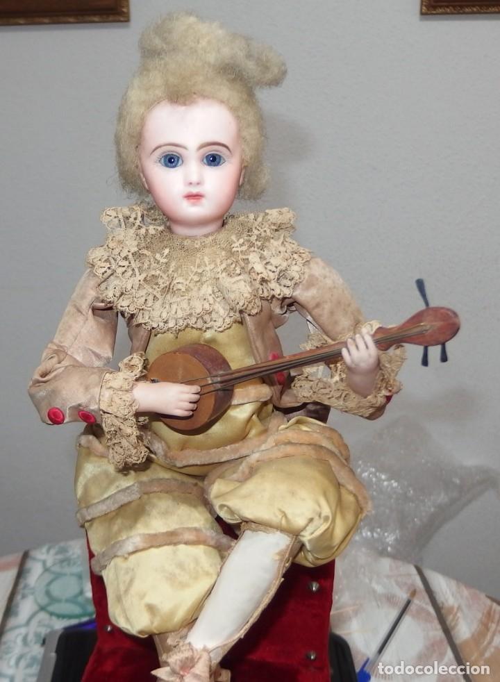 Muñecas Porcelana: AUTÓMATA VICHY,TETE JUMEAU,TROVADOR,FRANCE,FINALES DEL S.XIX,FUNCIONANDO - Foto 6 - 138960186