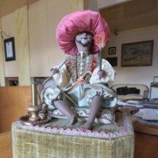Muñecas Porcelana - ESPECTACULAR AUTOMATA FRANCES EL FUMADOR DE FARKAS 1940 - 139484038