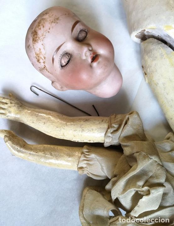 Muñecas Porcelana: MUÑECA. PORCELANA. NECESITA RESTAURACIÓN. FRANCIA. FINALES S. XIX - Foto 2 - 143397838