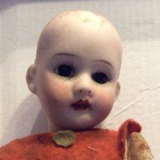 Muñecas Porcelana: ANTIGUA MUÑECA CARA PORCELANA Y CUERPO CARTON Y MADERA -. Lote 146580098