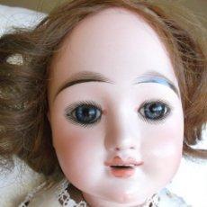 Muñecas Porcelana: BELLÍSIMA Y MUY DIFÍCIL EDEN BÉBÉ MUÑECA FRANCESA ANTIGUA DE BISCUIT 62 CM. Lote 146764710