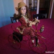 Muñecas Porcelana - IMPRESIONANTE ANTIGUO AUTOMATA FRANCESA EN TRICICLO DE FARKAS 1940 - 147488578