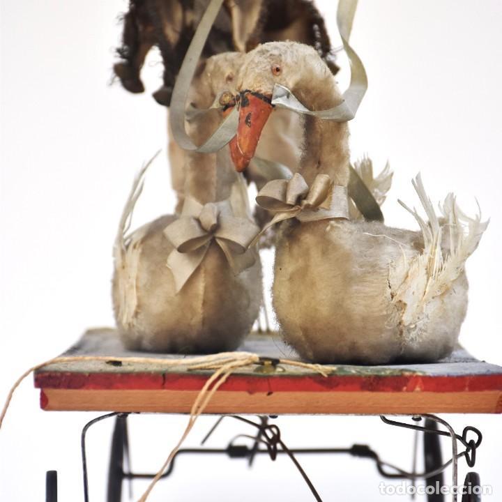 Muñecas Porcelana: IMPRESIONANTE ANTIGUO AUTOMATA FRANCES EL DOMADOR DE GANSOS SIGLO XIX - Foto 3 - 148042458