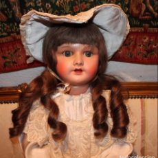 Muñecas Porcelana: GRAN Y PRECIOSA MUÑECA FRANCESA, 70CM, CABEZA DE PORCELANA CON ROPA ORIGINAL - DOLL,POUPÉE. Lote 149821710