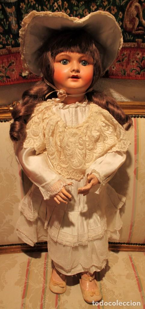 Muñecas Porcelana: GRAN Y PRECIOSA MUÑECA FRANCESA, 70CM, CABEZA DE PORCELANA CON ROPA ORIGINAL - DOLL,POU- DOLL,POUPÉE - Foto 2 - 149821710