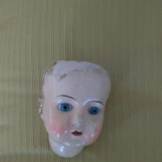 Muñecas Porcelana: CABEZA MUÑECA PORCELANA CABEZA 9 CM HASTA BARBILLA Y 13 CM CON EL CUELLO, ANCHO 8 CM. OJOS FIJOS.. Lote 151507858