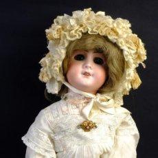 Muñecas Porcelana: MUÑECA FRANCESA SFBJ CARA EN PORCELANA CUERPO EN CARTÓN PIEDRA OJOS DORMILONES PRINCIPIOS S.XX-52 CM. Lote 155007598