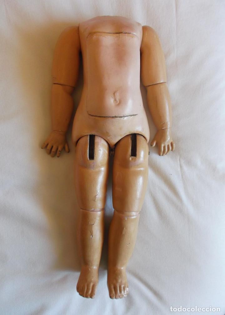 CUERPO JUMEAU DE MUÑECA FRANCESA, ORIGINAL ANTIGUO, MARCADO, 45 CM. (Juguetes - Muñeca Extranjera Antigua - Porcelana Francesa)