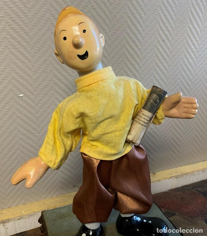Muñecas Porcelana: IMPRESIONANTE GRAN AUTOMATA FRANCÉS FIGURA TINTIN 1940 MUY RARA - Foto 2 - 137678594