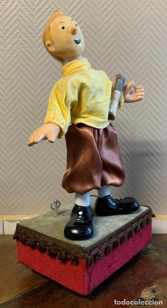 Muñecas Porcelana: IMPRESIONANTE GRAN AUTOMATA FRANCÉS FIGURA TINTIN 1940 MUY RARA - Foto 3 - 137678594