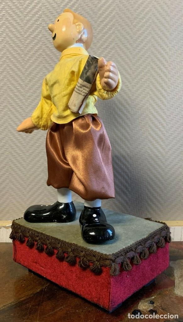 Muñecas Porcelana: IMPRESIONANTE GRAN AUTOMATA FRANCÉS FIGURA TINTIN 1940 MUY RARA - Foto 4 - 137678594