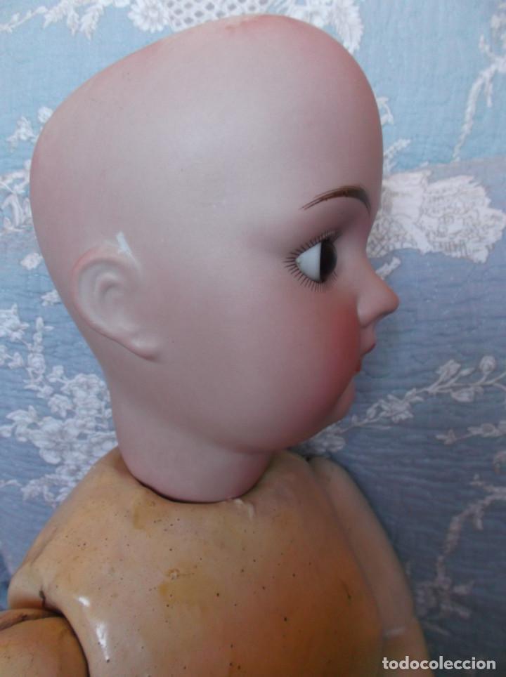 Muñecas Porcelana: Preciosa muñeca de porcelana francesa Fleischmann 69 cm - Foto 8 - 164803126
