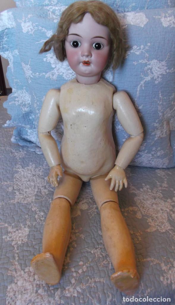 Muñecas Porcelana: Preciosa muñeca de porcelana francesa Fleischmann 69 cm - Foto 2 - 164803126