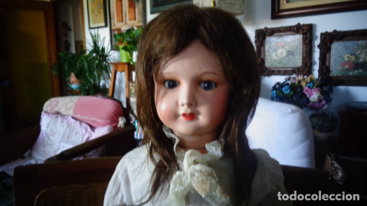 Muñecas Porcelana: HERMOSA MUÑECA DE PORCELANA OJOS FLIRTY, CREO QUE LAS PIERNAS SON RESTAURADAS 70 CTMS. MARCADA PARIS - Foto 6 - 166530006