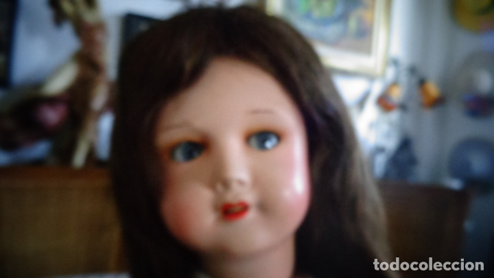 Muñecas Porcelana: HERMOSA MUÑECA DE PORCELANA OJOS FLIRTY, CREO QUE LAS PIERNAS SON RESTAURADAS 70 CTMS. MARCADA PARIS - Foto 22 - 166530006