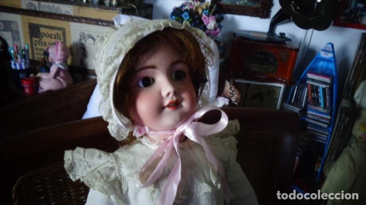 Muñecas Porcelana: HERMOSA MUÑECA FRANCESA DEP. TIENE UNA PEQUEÑA MUESCA EN EL OJO IZQUIERDO 70 CTMS. - Foto 4 - 166532430