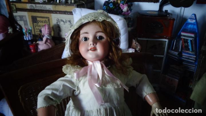Muñecas Porcelana: HERMOSA MUÑECA FRANCESA DEP. TIENE UNA PEQUEÑA MUESCA EN EL OJO IZQUIERDO 70 CTMS. - Foto 14 - 166532430