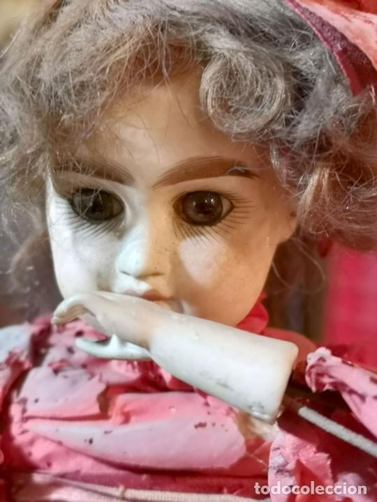 Muñecas Porcelana: MAGA AUTÓMATA. POSIBLEMENTE RENOU-JUMEAU. PORCELANA. FRANCIA. FINALES S. XIX - Foto 3 - 167903234