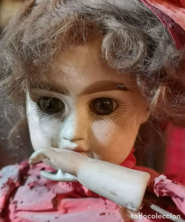 Muñecas Porcelana: MAGA AUTÓMATA. POSIBLEMENTE RENOU-JUMEAU. PORCELANA. FRANCIA. FINALES S. XIX - Foto 5 - 167903234