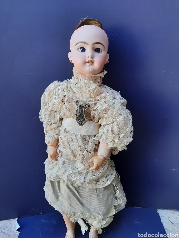 PRECIOSA MUÑECA ANTIGUA JUMEAU, D.E.P. TALLA 12. CUERPO ARTICULADO. CABEZA DE PORCELANA. (Juguetes - Muñeca Extranjera Antigua - Porcelana Francesa)