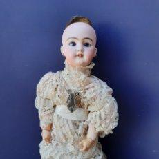 Muñecas Porcelana: PRECIOSA MUÑECA ANTIGUA JUMEAU, D.E.P. TALLA 12. CUERPO ARTICULADO. CABEZA DE PORCELANA.. Lote 168039576