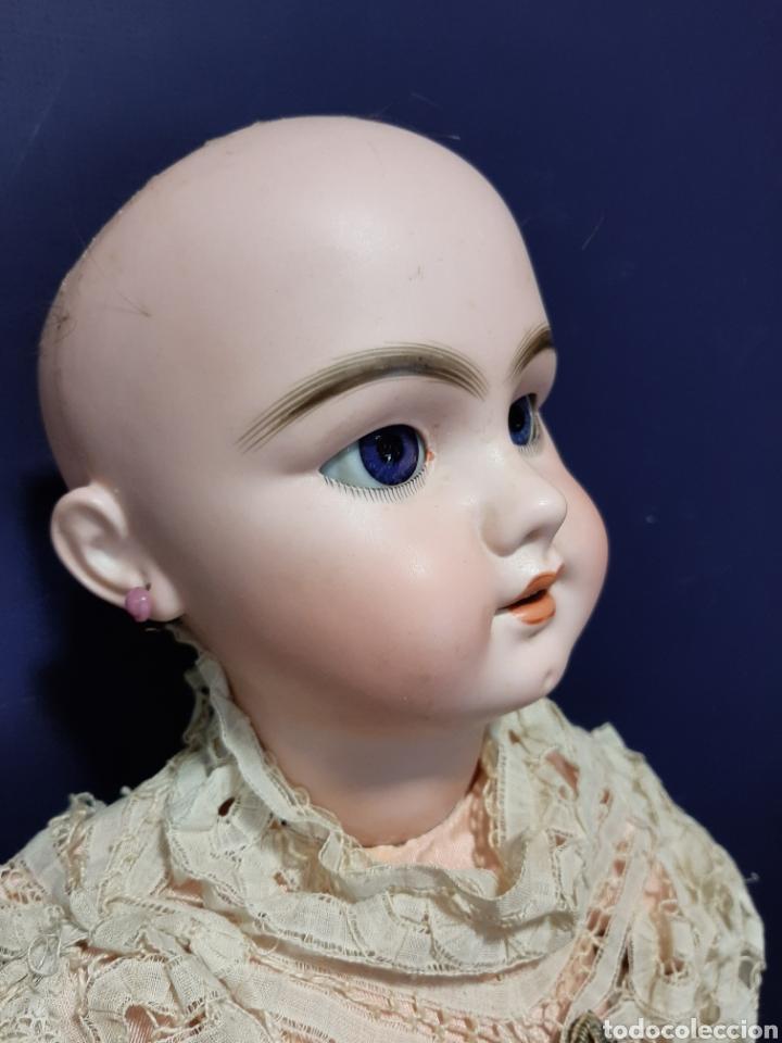 Muñecas Porcelana: PRECIOSA MUÑECA ANTIGUA JUMEAU, D.E.P. TALLA 12. CUERPO ARTICULADO. CABEZA DE PORCELANA. - Foto 2 - 168039576