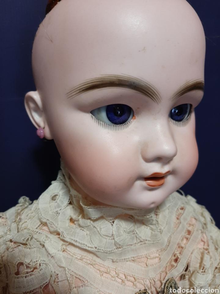 Muñecas Porcelana: PRECIOSA MUÑECA ANTIGUA JUMEAU, D.E.P. TALLA 12. CUERPO ARTICULADO. CABEZA DE PORCELANA. - Foto 7 - 168039576