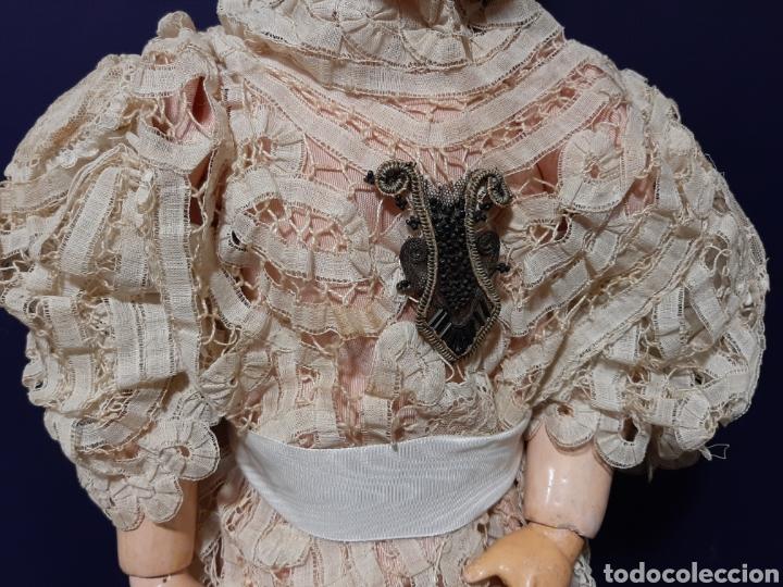 Muñecas Porcelana: PRECIOSA MUÑECA ANTIGUA JUMEAU, D.E.P. TALLA 12. CUERPO ARTICULADO. CABEZA DE PORCELANA. - Foto 9 - 168039576
