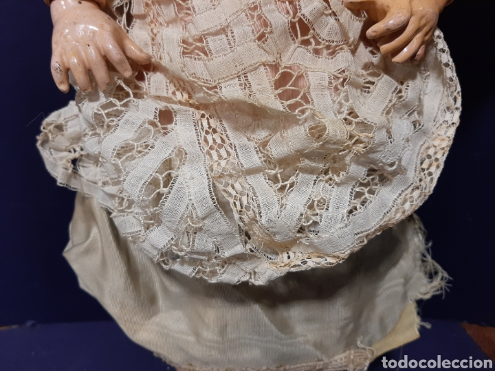 Muñecas Porcelana: PRECIOSA MUÑECA ANTIGUA JUMEAU, D.E.P. TALLA 12. CUERPO ARTICULADO. CABEZA DE PORCELANA. - Foto 10 - 168039576