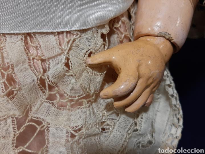 Muñecas Porcelana: PRECIOSA MUÑECA ANTIGUA JUMEAU, D.E.P. TALLA 12. CUERPO ARTICULADO. CABEZA DE PORCELANA. - Foto 12 - 168039576
