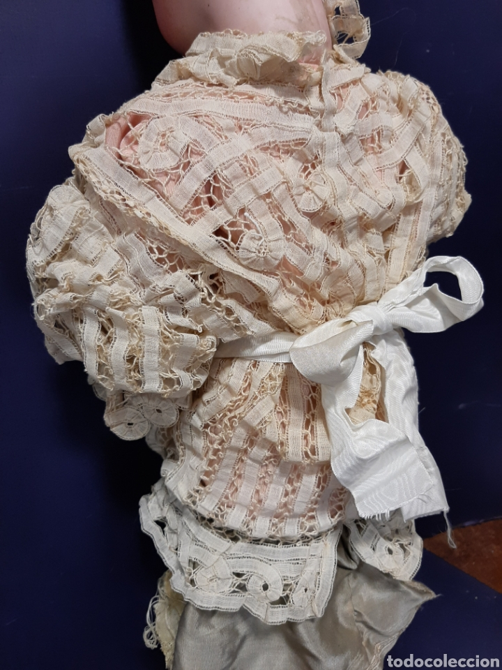 Muñecas Porcelana: PRECIOSA MUÑECA ANTIGUA JUMEAU, D.E.P. TALLA 12. CUERPO ARTICULADO. CABEZA DE PORCELANA. - Foto 15 - 168039576