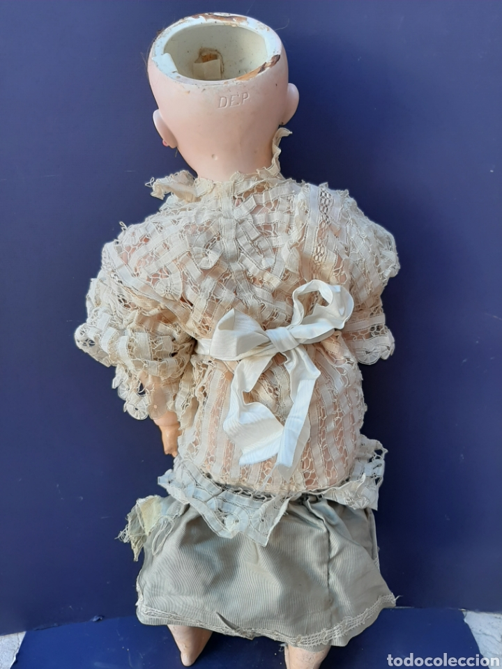 Muñecas Porcelana: PRECIOSA MUÑECA ANTIGUA JUMEAU, D.E.P. TALLA 12. CUERPO ARTICULADO. CABEZA DE PORCELANA. - Foto 17 - 168039576