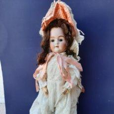 Muñecas Porcelana: ANTIGUA MUÑECA CON MARCA ANCLA L C, TALLA 10 DE 68 CM DE ALTURA. Lote 168048025