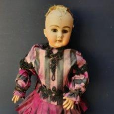 Muñecas Porcelana: MUÑECA ANTIGUA JUMEAU D.E.P. TALLA 11 DE 63 CM, PARA RESTAURAR. Lote 168056713