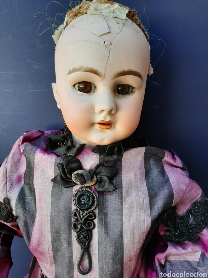 Muñecas Porcelana: MUÑECA ANTIGUA JUMEAU D.E.P. TALLA 11 DE 63 CM. PARA RESTAURAR. - Foto 2 - 168056713