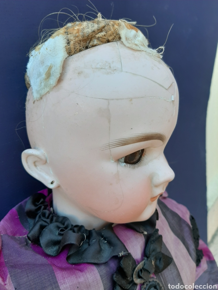 Muñecas Porcelana: MUÑECA ANTIGUA JUMEAU D.E.P. TALLA 11 DE 63 CM. PARA RESTAURAR. - Foto 4 - 168056713
