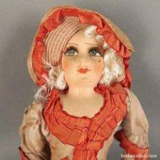 Muñecas Porcelana: MUÑECA ANTIGUA DE PORCELANA. POUPÉE DE SALON PARISIENNE. FRANCIA 1920 (BRD). Lote 168081280