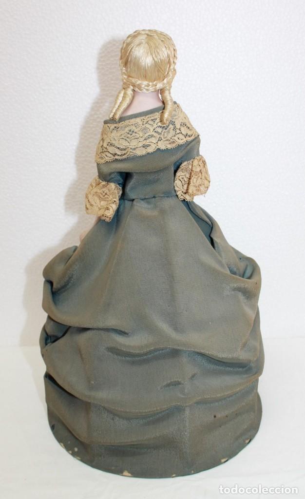 Muñecas Porcelana: MUÑECA LÁMPARA EN PORCELANA BISCUIT POLICROMADA CON VESTIDO DE PRINCIPIOS DEL SIGLO XX - Foto 7 - 174244172