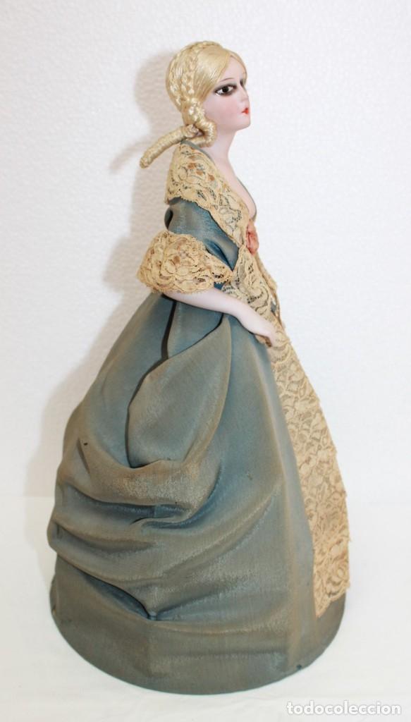 Muñecas Porcelana: MUÑECA LÁMPARA EN PORCELANA BISCUIT POLICROMADA CON VESTIDO DE PRINCIPIOS DEL SIGLO XX - Foto 10 - 174244172