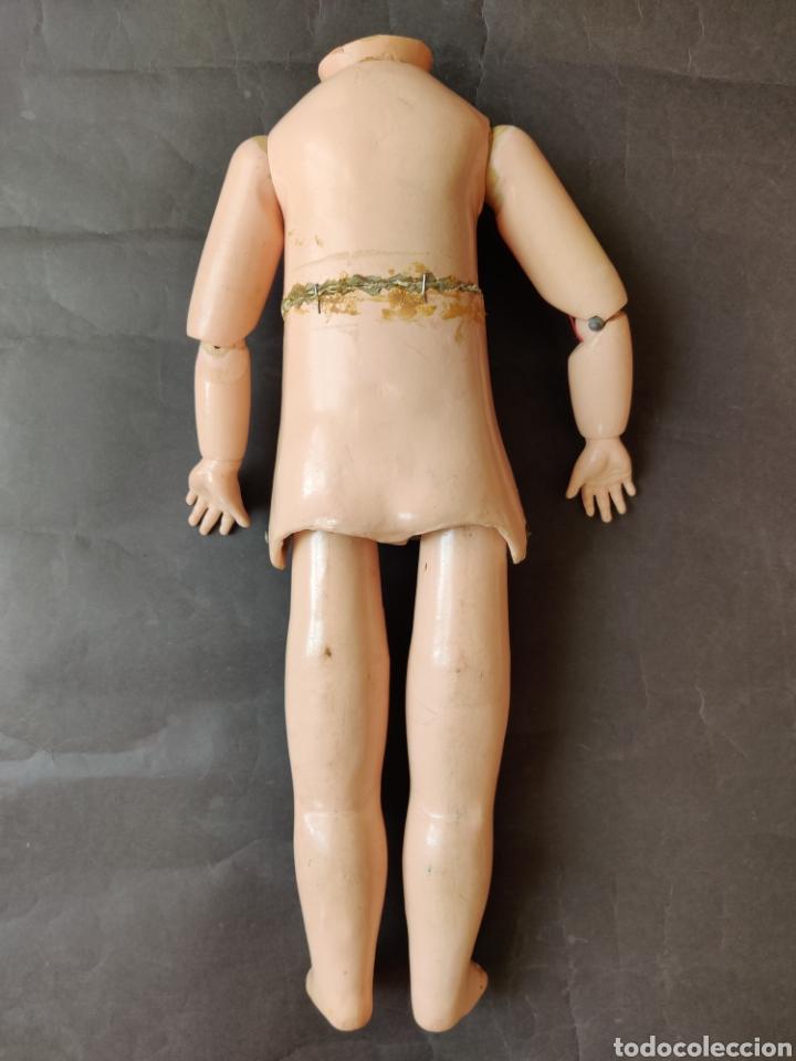 Muñecas Porcelana: Cuerpo andador francés antiguo 42 cm - Foto 7 - 177277412